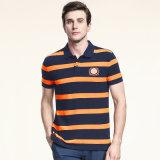 Streifen-Golf-Polo-Hemd Baumwollpolo-Hemd-der trockenen Sitz-Männer