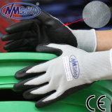 Nmsafety Серый Нейлон и спандекс Liner покрытием ладони пены Нитриловые перчатки