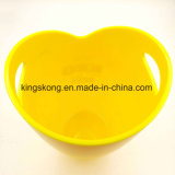 Ведро льда круглой формы цвета PP желтое пластичное