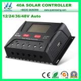 40A Controlador PWM 12/24/36/48V Controladores de carga solar com LCD (QWP-SR-HP4840A)