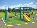 Детей игровая площадка на открытом воздухе поворотного механизма установки оборудования как для взрослых и детей