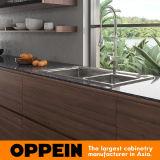 Oppein moderno elegante madeira Zen-Like Natural Melamina Armários de cozinha (PO17-HPL02)