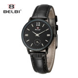 Belbi neue einfache Quarz-Uhr der Dame-Business Watch Waterproof Leather