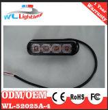 Indicatore luminoso d'avvertimento giallo della griglia di 24V 4 LED per il veicolo Emergency