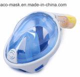 スポーツのカメラのアダプターが付いている新しい十分のデザイン乾燥した自由な呼吸太字のスノーケルマスク