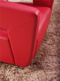 Sofá del hogar de la recepción de la PU del cuero de la pierna del acero inoxidable del diseño moderno