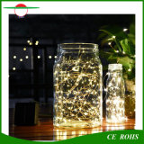 Kupferner Draht-Solarzeichenkette-Licht der Weihnachtsbäume Decotation Landschaftseinlage-100LED mit weißem/warmem weißem buntem LED-Licht
