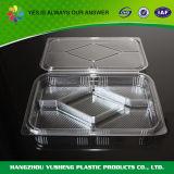 포장하는 플라스틱 음식 콘테이너, 3개의 격실 음식 콘테이너