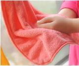 Aufhebung-Typ Karton-Handtuch Küche-im korallenroten Vlies-Tuch mit einem Haken