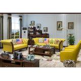 Sofà moderno del cuoio genuino di stile americano per mobilia domestica (AS846)