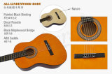 Chitarra classica di Lindenwood di vendita della Cina di formato di colore differente caldo dei bambini