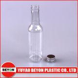 Frasco de garrafa de plástico com garrafa de cerveja de 165 ml com tampão de parafuso de alumínio