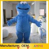Costume blu personalizzato della mascotte del carattere del mostro di Elmo degli adulti