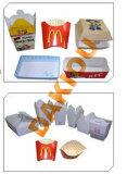 Cuadro de la hamburguesa el precio de la caja de cartón Máquina de embalaje