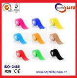 2018 Hete Katoenen van de Kleur van de Verkoop Saferlife Elastische Band 5cm X 5m van Kinesio voor de Therapie van de Spier van Sporten