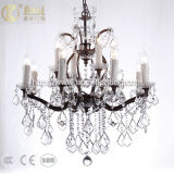 Antique Black Metal Art Crystal Pendant Light