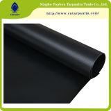 брезент цвета сверхмощного 100% черного винила PVC 22oz Coated