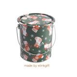 Cadeau de Noël d'impression personnalisée Box Boîte métallique rond pour le thé café Sucre candi peut