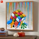Diseño original innovador Dice Painting Canvas Art