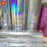 Película holográfica metalizada dos testes padrões BOPP laminação térmica para a embalagem do presente