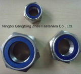 Écrous de blocage DIN985 en nylon avec la pente bleue 4 de boucle