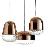 O vidro decora a iluminação moderna clara interna do candelabro para a lâmpada do pendente da barra