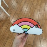 Eco freundlicher Regenbogen-Muster-Silikon-Telefon-Kasten