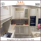 かえでのシェーカーのドア様式の純木の食器棚