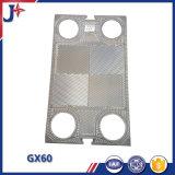 Sustituir Tranter GX61 Placa para intercambiador de calor de placas con SS304/ ss316l Fabricado en China