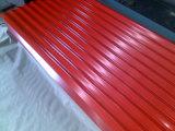 Lo zinco dell'onda ha ricoperto le mattonelle di tetto/strato ondulato galvanizzato del tetto del metallo