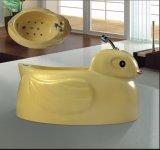 Pequeño Special amarillo del BALNEARIO de la bañera del masaje del BALNEARIO del pato para el bebé (AT-LW109)