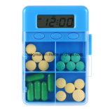 Mini rectángulo de las píldoras de la tablilla de la mini del recordatorio de la medicina alarma electrónica Pocket del temporizador