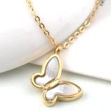 Shell van dame Fashion Jewelry Roestvrij staal de Witte Halsband van de Tegenhanger van de Vlinder