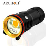 Пикирование Archon 5200lm перезаряжаемые освещает под водой водоустойчивый 100m электрофонарь СИД