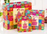 고품질을%s 가진 다채로운 선전용 재사용할 수 있는 쇼핑 백