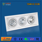 Aluminium 2700-6500k 45W LED Grille Light pour centre commercial