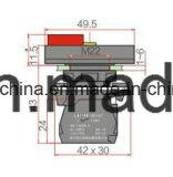 22mm 6-380V de Verlichte Schakelaar van de Drukknop
