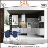 白いカラー木のホーム家具の木製の食器棚