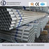 Galvanizado de pared delgada de tubo de acero redondo para muebles de acero