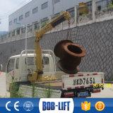 mini grue montée Sq1za2 de boum du porte-fusée 1ton par camion hydraulique