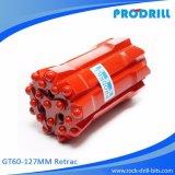 Gt60-127 Retrac Botão Rosqueado Bits para perfuração de martelo superior