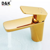 高品質の熱い販売の気高く、贅沢な金カラー単一のハンドルの浴室の洗面器のコック
