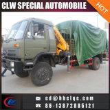 4X4軍のトラックによって取付けられるクレーン3ton指の関節クレーントラック