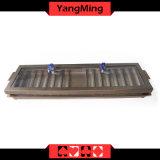 Casino de entretenimiento dedicado de 1-capas metálicas Poker Chip bandeja con 14 Fila Ym-CT03