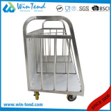 Diviseur chaud de chariot à plaque de transport d'acier inoxydable de vente avec des roues