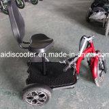 De volwassen 500W Vouwbare 3-wiel Elektrische Autoped van de Mobiliteit met Mand