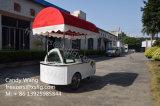 Chariot de /Gelato de chariot d'étalage de crême glacée de couleur rouge