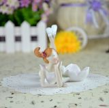 2017 Cheap Price Polyresin Fairy Candle Holder como Home Deco