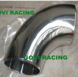 2 '' /2.5 '' pipe Polished d'entrée d'air de coude de 90 degrés de pipe en acier de tube avec l'acier inoxydable