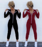 Cotone in bianco Hoodies di modo per i vestiti delle donne Sportwear (r)